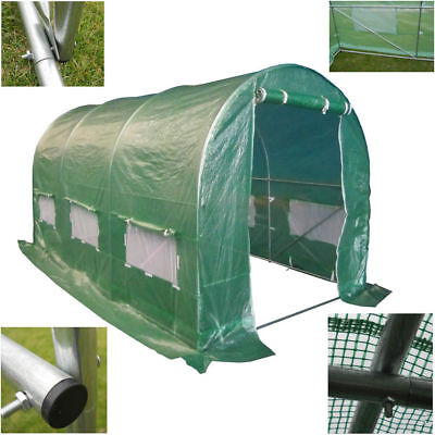 25mm Fully Galvanised Frame Polytunnel Greenhouse Pollytunnel Polly Tunnel 4mx2m
