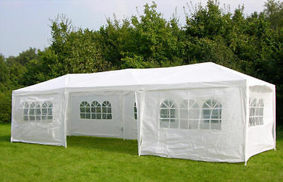3m x 9m White Waterproof Outdoor Garden Gazebo Party Tent Marquee Canopy UK SELL