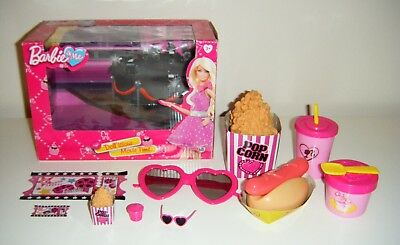 Barbie & Me Doll 'icious Movie Time Set Accessories 3D Glasses & Play Food