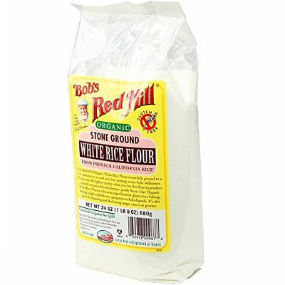 bobs red mill flour gf whte rice 24 oz pack of 4