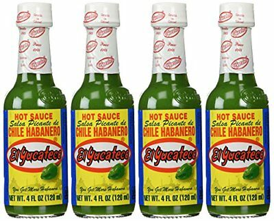 el yucateco sauce habanero grn hot 4 oz pack of 12