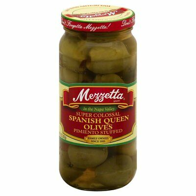 MEZZETTA, OLIVE COLOSSAL QUEEN PMNTO, 10 OZ, (Pack of 6)