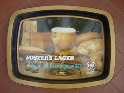 Vintage Retro Foster's Lager Metal Beer Tray CUB