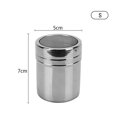 New Stainless Steel Chocolate Shaker Cocoa Flour Sugar Powder Spray Sifter Small