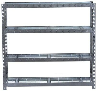 Gladiator 73 in. H x 77 in. W x 24 in. D 4-Shelf Welded Steel Garage Shelving