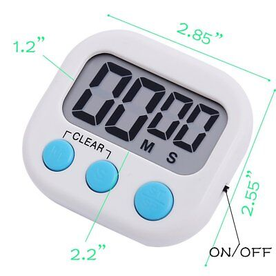 Digital Kitchen Timer Magnetic Cooking LCD for Food Household Use Loud Alarm T2