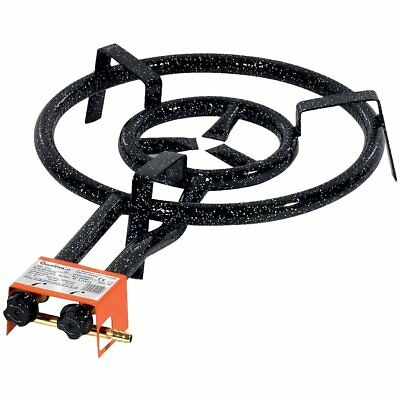 Double Ring Paella Gas Burner 40cm- Up to Paella 70cm- UK Stock ND Free Delivery