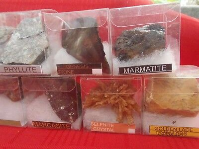 Assorted choice West Australian mineral specimens-Boxed/Labelled with bonus