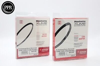Manfrotto XUME 77mm Lens Adapter AND Filter Holder Combo *NEW*