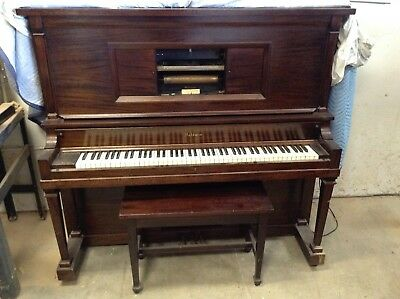 1917 Antique Baldwin Player Piano w/ player rolls serial #32858