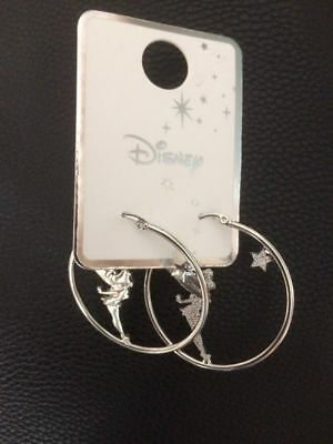 New Disney Primark Tinkerbell Hooped Earrings- Silver Coloured Disney peter pan!
