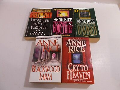 Anne Rice lot of 5 Blackwood Farm Cry to Heaven Queen of the Damned Plus 2