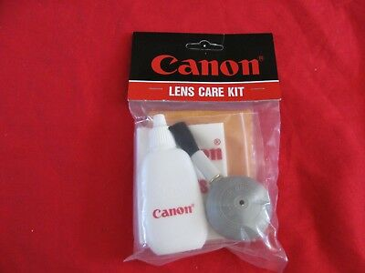 Canon Lens Care Kit Camera Care Cleaning Brush Liquid Solution NEW