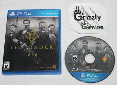 USED The Order 1886 Sony PlayStation 4 PS4 (NTSC) TESTED and WORKING