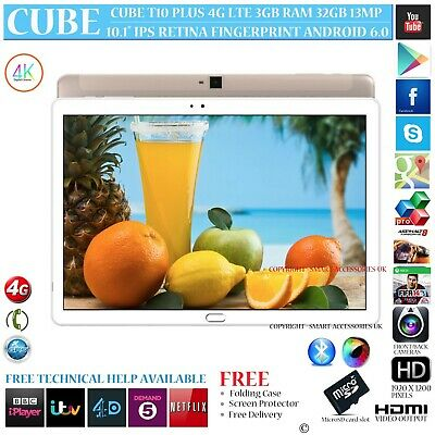 "Cube T10 4G 3Gb Ram Octa Core Gps 32Gb 10.1"" Retina 6.0 Android Phone Tablet Pc"