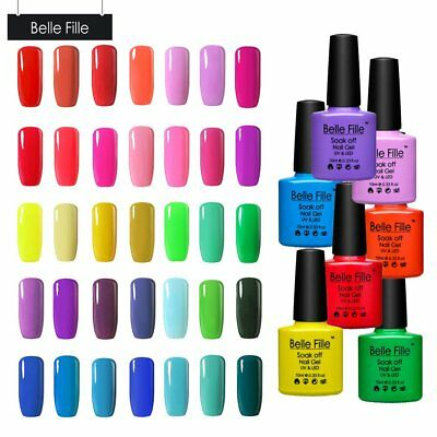 BELLE FILLE Bright Light Neon 50 Colours Gel Nail Gel Polish Summer Collection