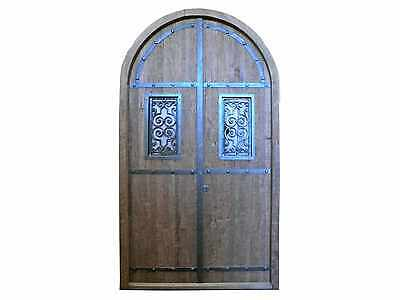 Rusting Arched Double Entry Door #D1171w
