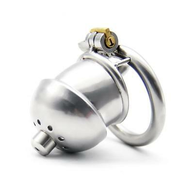 Medical grade Stainless Steel Chastity Device Small Cage Urethral Plug UA972