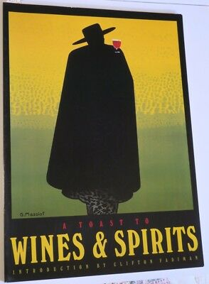 1989 Old Wines And Spirits Advertising Poster BOOK,full page color reproductions
