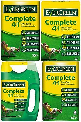 EverGreen Complete 4In1 Lawn Care Bag Kills Weeds, Grass, Moss 2.8/3.5/7/12.6 Kg