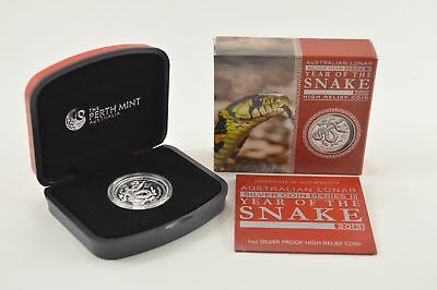 2013 Australian Lunar Series II Year Of Snake One Ounce Silver Proof Coin *0124