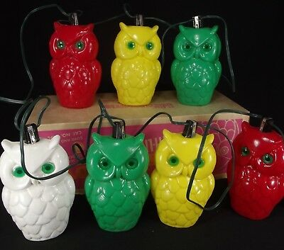 Vintage Owl String Lights 1950 S Camper Rv Patio Tiki Parti Lites Party Large