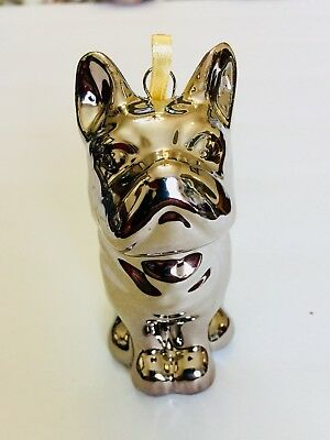 French Bulldog Silver Ornament