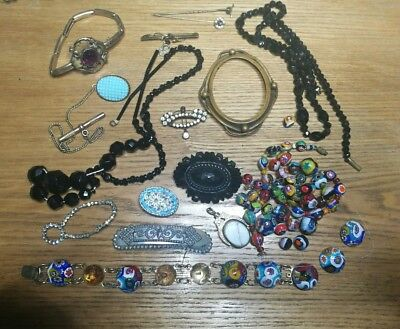 Job Lot Of Antique Victorian Jewellery For Spare Repair