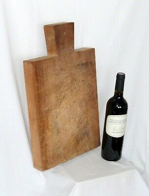 French Vintage Traditional Rustic Beech Wood bread or chopping board. Large