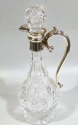 S/Plate Crystal Glass Jug. Stunning Handled Jug in Excellent Condition