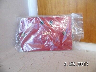 Vintage Red Leather French Buvez (Drink) Coca Cola Four Key Fob New Never Folded