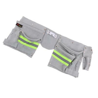 Reflective Tool Bag for Roofer Maintenance Worker Construction 2-Side Gray