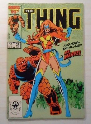 THE THING #35 (MAY 1986, MARVEL) 1st App. of THE ALL NEW MS. MARVEL, 8.0, VF!!!