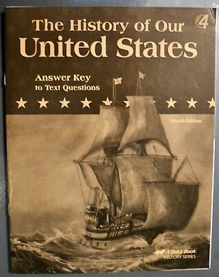 Abeka the history of our united states geographymaps and review history of our united states text answer key abeka history series 4th grade fandeluxe Image collections