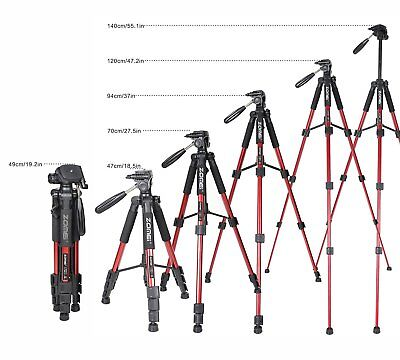 ZOMEI Q111 Professional Aluminum Portable Travel Tripod for Camera Red