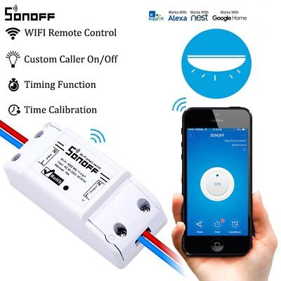 SONOFF Basic Wifi Switch Works with Alexa for Google Home Timer 10A/2200W  White