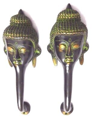 Lord Buddha Shape Antique Vintage Style Handmade Brass Door Handle Pull Knob