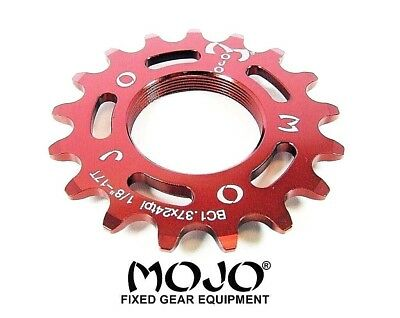 RED ANODIZED Cro-Mo TRACK 12 TOOTH 1//8 INCH CNC MOJO 12T FIXED GEAR COG
