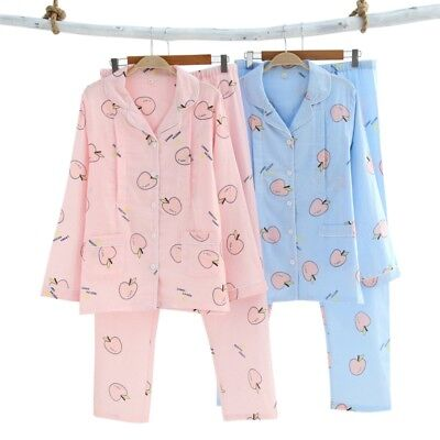 Maternity Sleepwear Suit Pregnant Women Nursing Cotton Breastfeeding Pajamas