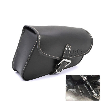 Right Side Motorcycle Saddle Bag Cruiser Storage Tool Pouches For Harley Bobber