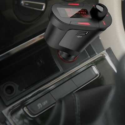 Universal 12V USB Car Cigarette Lighter FM AUX Audio MP3 LCD Player Transmi D2Z2