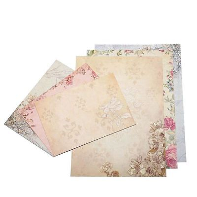 40 Sheet Vintage Stationery Sets with Envelopes for Writing Letters S2B8