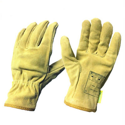 Adult Electric Welding Gloves Wear Resistance Non-slip Working Driving Leather