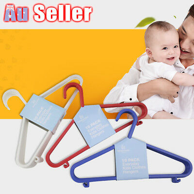 30/60pcs Kids Children Baby Plastic Trousers Hangers Hook Coat Clothes