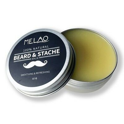 MELAO Beard Balm with argan oil and mango butter, Natural beard wax for bea Q9Y2