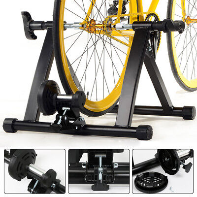 Indoor Magnetic Bike Bicycle Trainer Stationary Exercise Stand Steel Frame Home