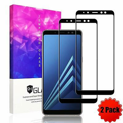 [2 Pack]For Samsung Galaxy A8 J8 2018 Full Cover Tempered Glass Screen Protector