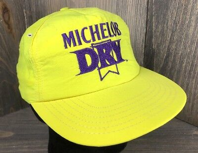 676dbf1d7d564 Vintage Yellow Michelob Snapback Trucker Hat Cap Embroidered Nylon Made in  USA
