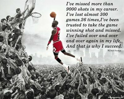 Michael Jordan succeed Motivational Quote Poster High Quality wall poster