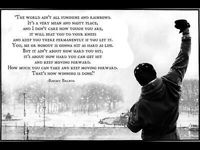 Rocky Balboa inspirational motivational quote Poster High Quality wall poster